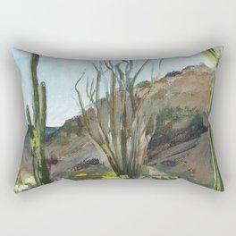 Desert Saguaros Rectangular Pillow