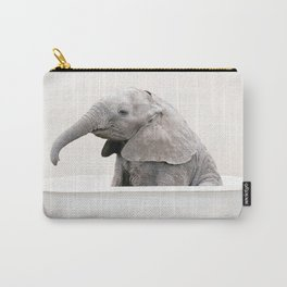 Baby Elephant in a Vintage Bathtub (c) Carry-All Pouch