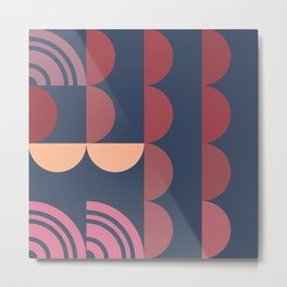 Hedgehog abstract geometric pattern with colorful shapes 206 Metal Print