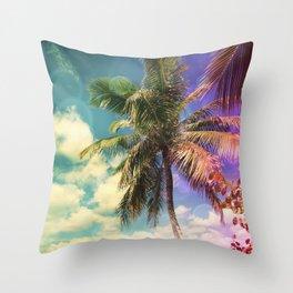 Prismatic Palm Throw Pillow