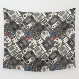 Video Game Controllers in True Colors Wall Tapestry