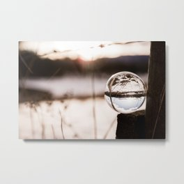 Sunset through a different point of view Metal Print