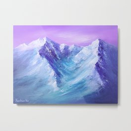 Mountain Painting for Fathers Day Metal Print