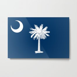 Flag of South Carolina Metal Print