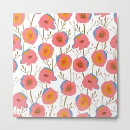 PoP Poppy Pattern Metal Print