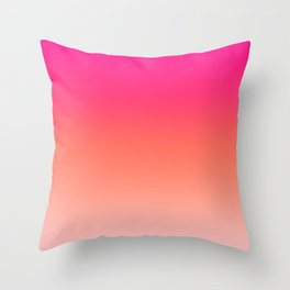 Gradient Ombre Living Coral Millennial Plastic Pink Pattern Peachy Orange Soft Trendy Cute Texture Throw Pillow