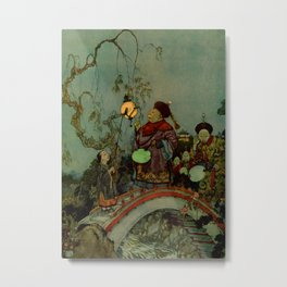 """In Search of a Nightingale"" by Edmund Dulac Metal Print"