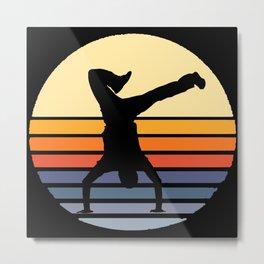 Retro Breakdance Breakdancer Metal Print