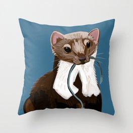 Cutest auto mechanic Throw Pillow