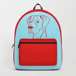 Great Dane (Cyan and Red) Backpack