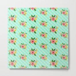 Flower Pattern Metal Print