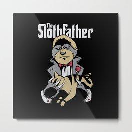 Slothfather Classic Gangster Movie Parody Metal Print