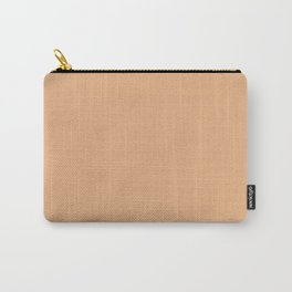 Papaya Whip Solid Color Block Carry-All Pouch