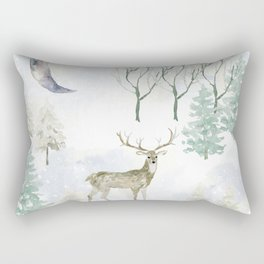 Winter Landscape Rectangular Pillow
