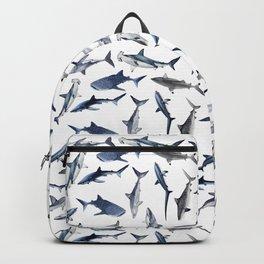 SHARKS PATTERN (WHITE) Backpack