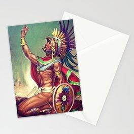 Caballero Aguila Aztec Scout Portrait by Jesus Helguera Stationery Cards