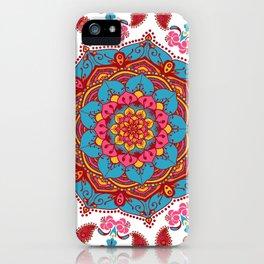 Mandala Hippie Flowers Spiritual Zen Bohemian Yoga Mantra Meditation iPhone Case