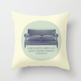 week Throw Pillow