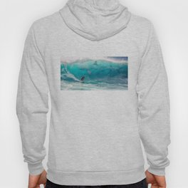 Surfing with a Giant Shark Hoody