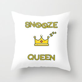 Snooze King Throw Pillow