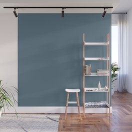 BLUE STONE dusty solid color  Wall Mural