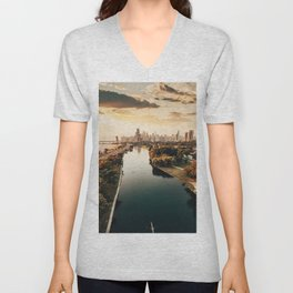Chicago view from a drone Unisex V-Neck