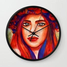 woman rose Wall Clock