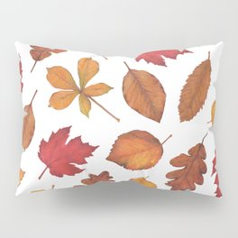 Autumn Leaves Watercolor Pattern | Fall Leaves | Autumn Foliage Design | Pillow Sham