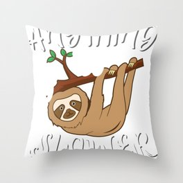 Sloth Sloth Baby Sloth Gifts Chilling Throw Pillow