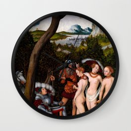 "Lucas Cranach the Elder ""The Judgement of Paris""(New York) Wall Clock"