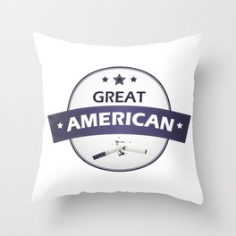 Great American don't smoke - Great American Smokeout Throw Pillow