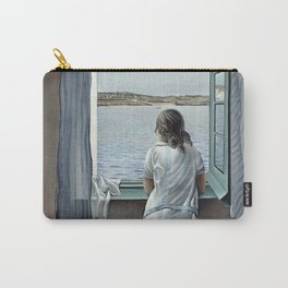 Salvador Dali Young Woman at a Window 1925 Artwork for Wall Art, Prints, Posters, Tshirts, Mwn, Women, Youth Carry-All Pouch
