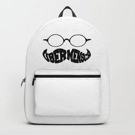 UBERMENSCH Nietzsche Manly Moustache Backpack