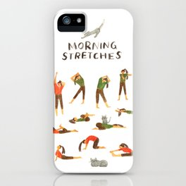 Morning stretches / Yoga iPhone Case