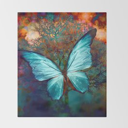 The Blue butterfly Decke
