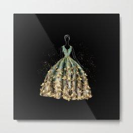 Evening Gown Fashion Illustration #3 Metal Print