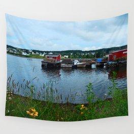 Fisherman's Wharf in Cape Breton Wall Tapestry