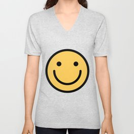 Smiley Face   Cute Simple Smiling Happy Face Unisex V-Neck