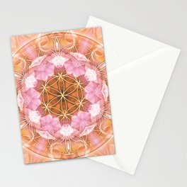 Flower of Life Mandalas 18 Stationery Cards