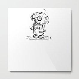 Tiny Robot Metal Print