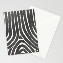 Rainbow geometric black and white pattern Stationery Cards