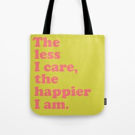 Inspirational Sayings Typography in Bright Colors Tote Bag