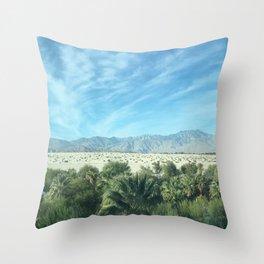 Palm Springs Mountains-California Desert Throw Pillow