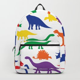 Dinosaurs - White Backpack