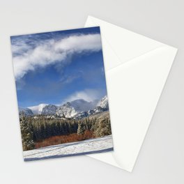 Winter Rocky Mountain Park Panorama Stationery Cards