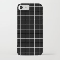 Grid Simple Line Black Minimalistic iPhone 7 Slim Case
