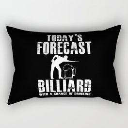 Today's Forecast Billiard Drink Beer Pool Player Rectangular Pillow