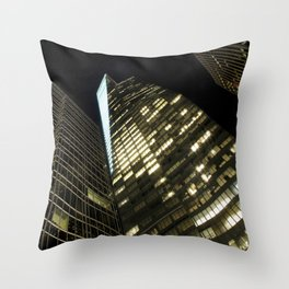 ARCH ABSTRACT 24: Bank of America Tower, New York City Throw Pillow
