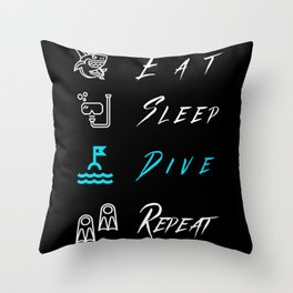 Funny Swimming And Diving Saying Throw Pillow