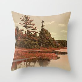 Grundy Lake Provincial Park Poster Throw Pillow